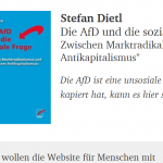 Stefan Dietl: Die AfD und die soziale Frage